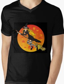 Witch&Moon Mens V-Neck T-Shirt