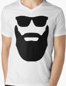 Beard and Sunglasses Mens V-Neck T-Shirt