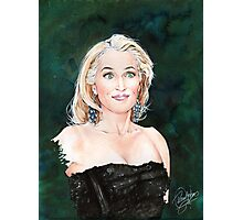 Gillian Anderson watercolor Portrait Photographic Print