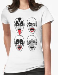 Kiss Rock Band Zombies Womens Fitted T-Shirt