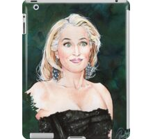 Gillian Anderson watercolor Portrait iPad Case/Skin