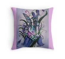 Bluebell fairy tote bag Throw Pillow