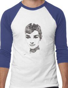 Audrey Hepburn portrait 02 Men's Baseball ¾ T-Shirt
