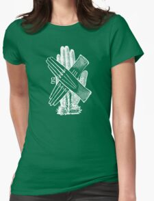 Glove Love Hands Typography Womens Fitted T-Shirt