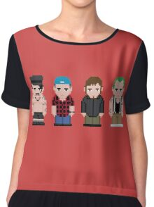 Red Hot Chili Peppers Pixel Art Chiffon Top