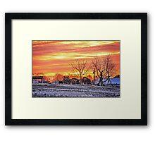 Road Trip Sunrise (HDR) Framed Print