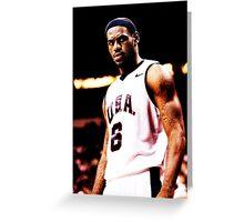 The King Lebron James USA Greeting Card