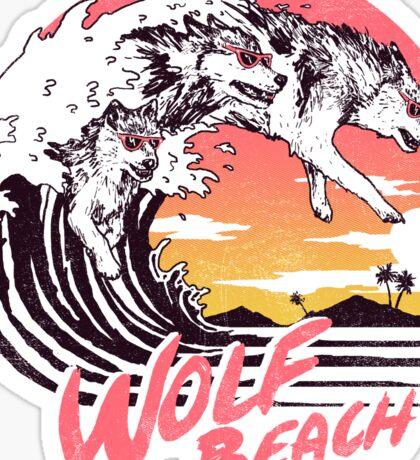 Wolf Beach Sticker