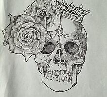 Skull & Roses by DottyShiv