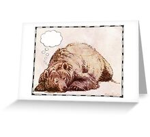 Blank Thought Bubble Bear Greeting Card