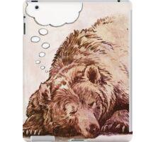Blank Thought Bubble Bear iPad Case/Skin