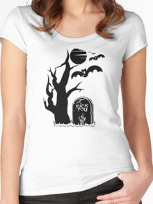 Halloween Tombstone Women's Fitted Scoop T-Shirt