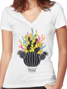 In my cactus Women's Fitted V-Neck T-Shirt