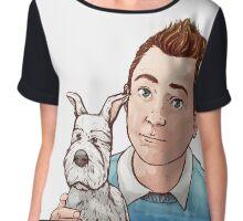 Tintin and Snowy [2] Chiffon Top