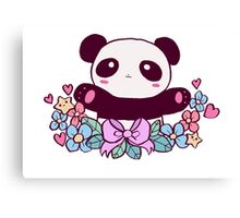 Cute Flowery Panda Canvas Print