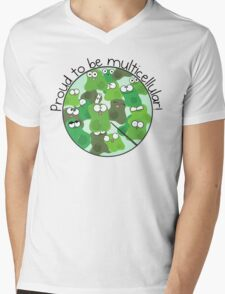 Proud to be Multicellular Mens V-Neck T-Shirt