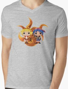 Kid & Serge with Frozen Flame Mens V-Neck T-Shirt