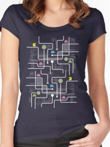 Return Of The Retro Video Games Circuit Board Women's Fitted Scoop T-Shirt