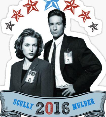 Mulder & Scully For President 2016 Sticker