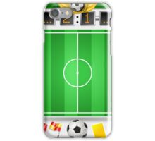 Infographic Set of Soccer Field and Icons iPhone Case/Skin