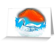 Beautiful swan Greeting Card