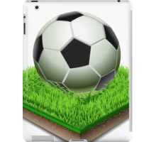 Soccer ball isolated on the Grass Plate iPad Case/Skin