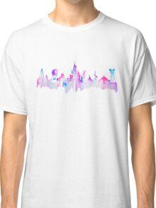 Paris Magic Theme Park Watercolor Skyline Silhouette Classic T-Shirt
