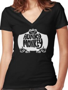 Hunky Monkey Women's Fitted V-Neck T-Shirt
