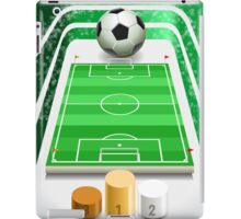Soccer Field with Soccer Ball and Podium iPad Case/Skin