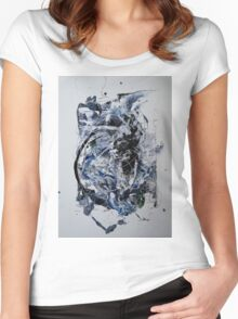Back to the Future - Original mixed media Abstract painting Women's Fitted Scoop T-Shirt