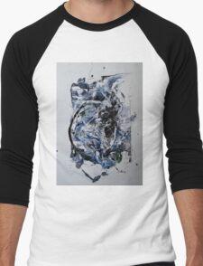 Back to the Future - Original mixed media Abstract painting Men's Baseball ¾ T-Shirt