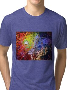 A Secret Whispered In Ears of Three Artists Tri-blend T-Shirt