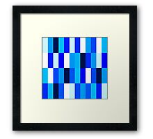 Beautiful Nice blue Fashion Pattern Illustration Framed Print
