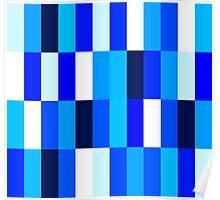 Beautiful Nice blue Fashion Pattern Illustration Poster