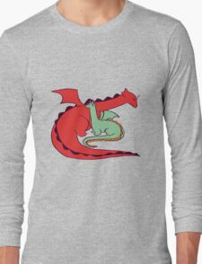 Red and Green Dragon Long Sleeve T-Shirt