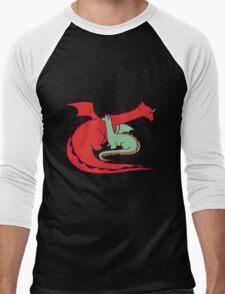 Red and Green Dragon Men's Baseball ¾ T-Shirt