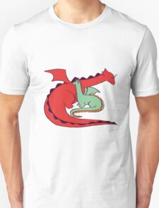 Red and Green Dragon Unisex T-Shirt
