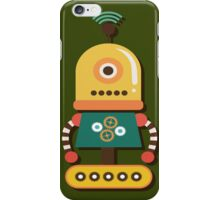 Quirky Retro Wind-up Robot Toy iPhone Case/Skin