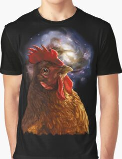 Chicken Galaxy Graphic T-Shirt