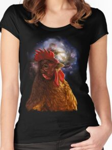 Chicken Galaxy Women's Fitted Scoop T-Shirt
