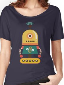 Quirky Retro Wind-up Robot Toy Women's Relaxed Fit T-Shirt