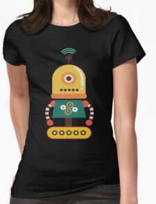 Quirky Retro Wind-up Robot Toy Womens Fitted T-Shirt