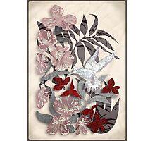 Satin Collage Winter Secret Garden Photographic Print