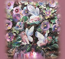 Fairies and Pansies by Robin Pushe'e