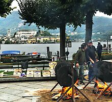 Chestnut roasting at Lake Orta by brianhardy247