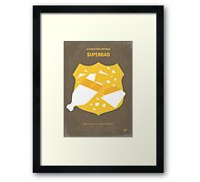 No315 My Superbad minimal movie poster Framed Print