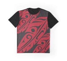Four Feathers Red on Black Graphic T-Shirt
