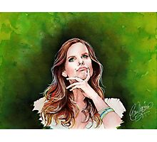 Rebecca Mader watercolor portrait Photographic Print