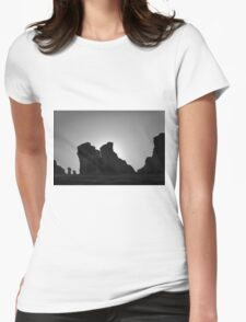 Arches NP V BW Womens Fitted T-Shirt