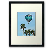 Pretty Blue Balloon Framed Print